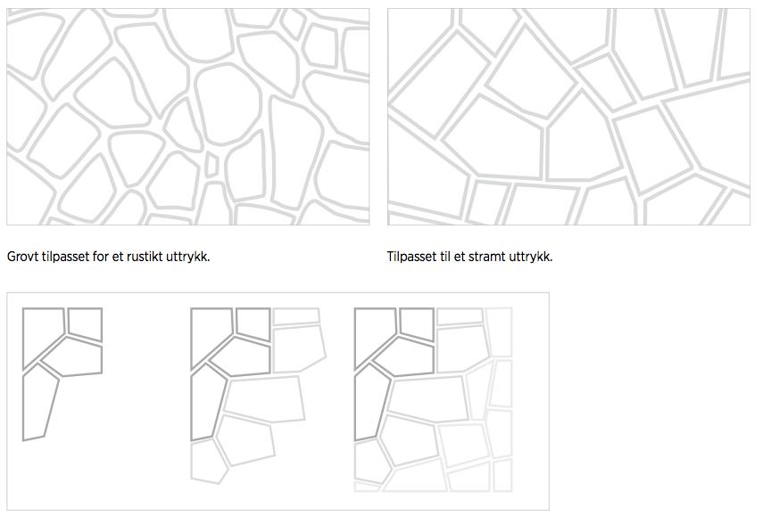 Monteringsveiledning bruddheller mørtel – eksempler på uttrykk