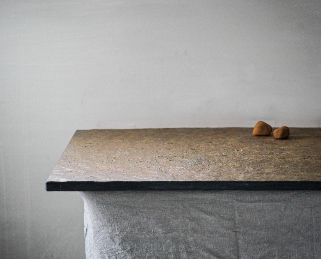 Benkeplate Otta Rust skifer i natur overflate