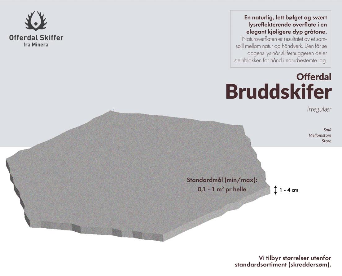 Produktark Offerdal bruddskifer / bruddheller