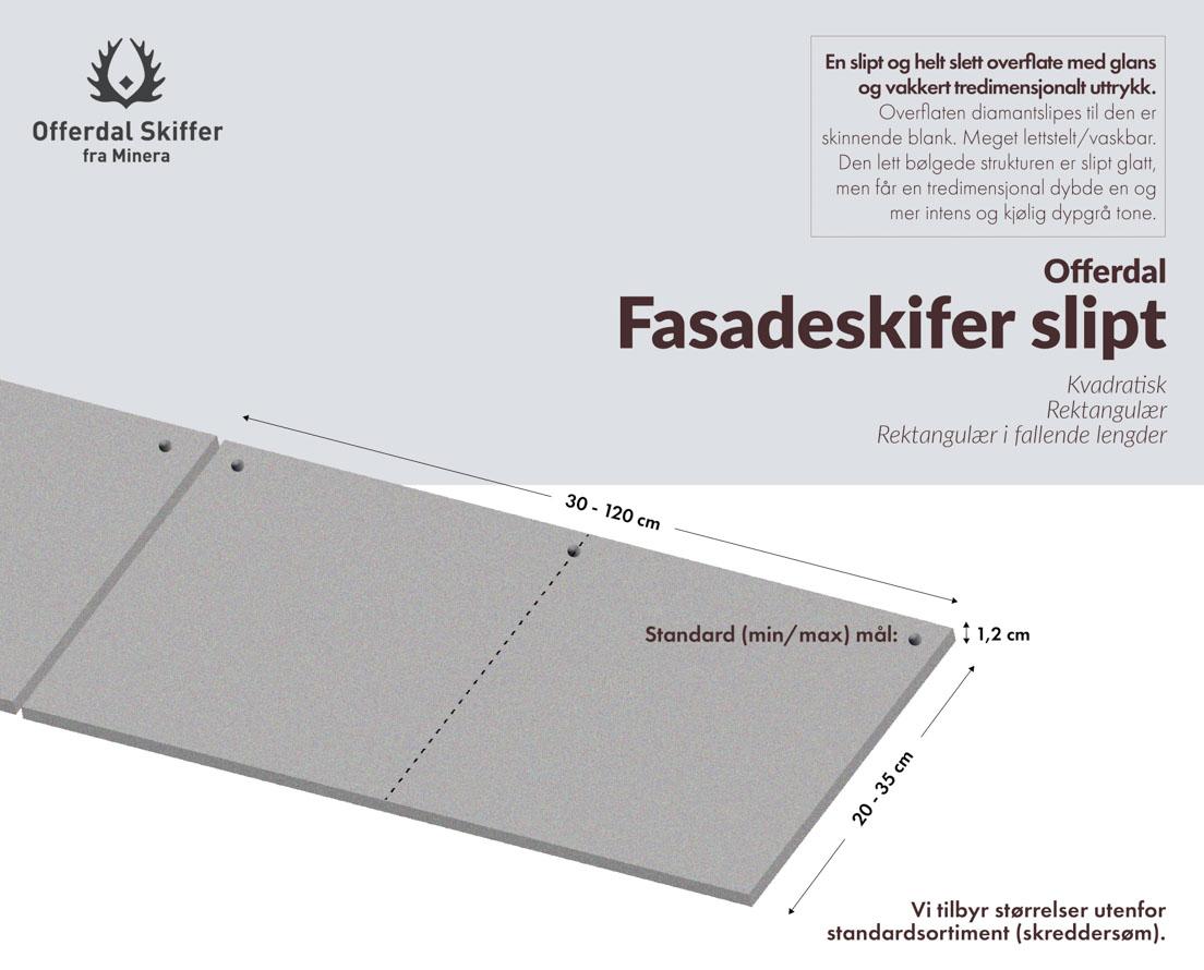 Produktark fasadeplate Offerfdal slipt skifer