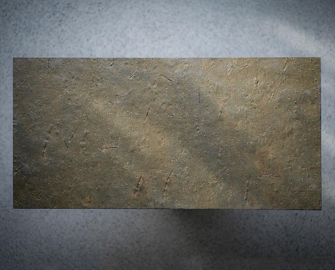 Bilde som viser en flis i Otta Rust natur skifer