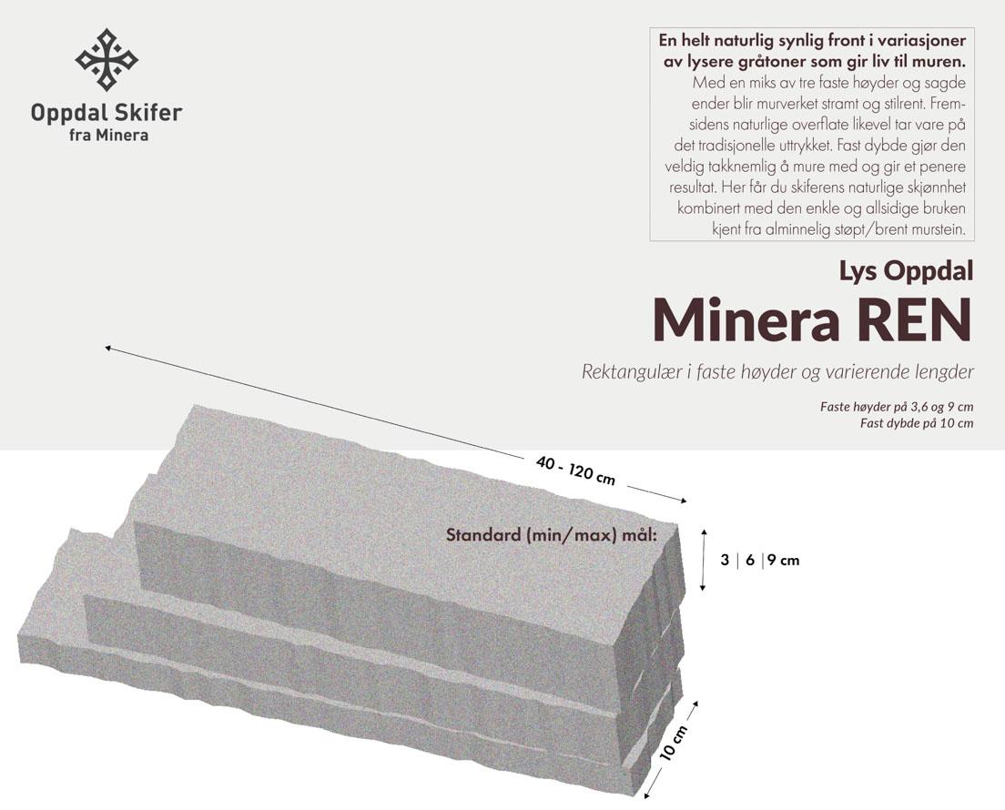 Produktark lys Oppdalskifer Murstein Minera REN