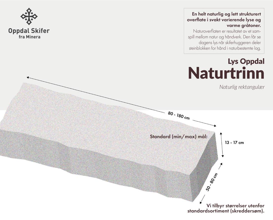 Produktark Naturtrinn lys Oppdal skifer