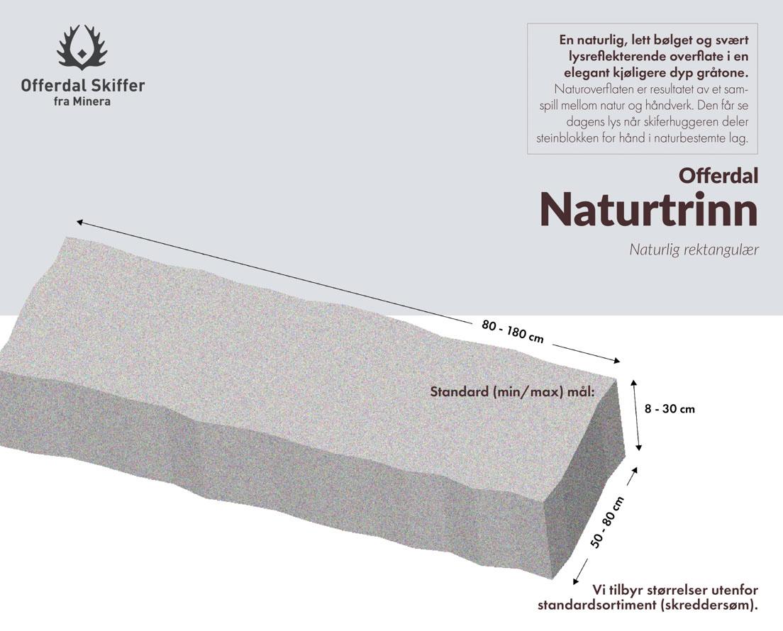Produktark Offerdal naturtrinn i skifer